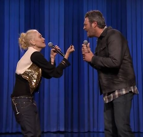 Blake Shelton and Gwen Stefani on Tonight Show