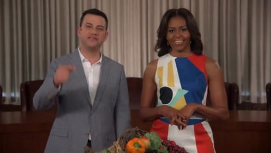 Jimmy Kimmel and Michelle Obama