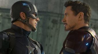 Robert Downey Jr and Chris Evans in Captain America Civil War